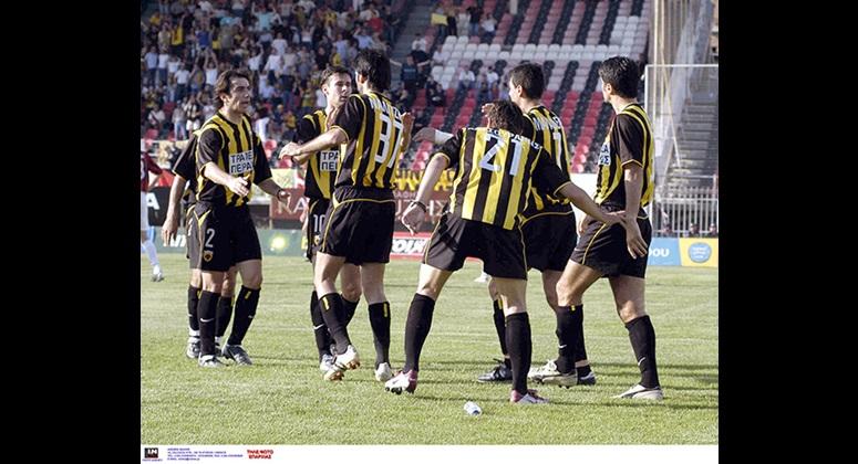 Οι Ναλιτζής (37) και Κατσουράνης (21) ήταν οι σκόρερ της νίκης της ΑΕΚ με 2-0 στην τελευταία επίσκεψή της στην έδρα της Παναχαϊκής το 2003.